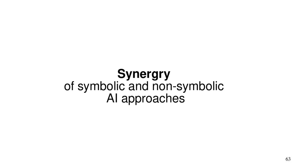63 Synergry of symbolic and non-symbolic AI app...