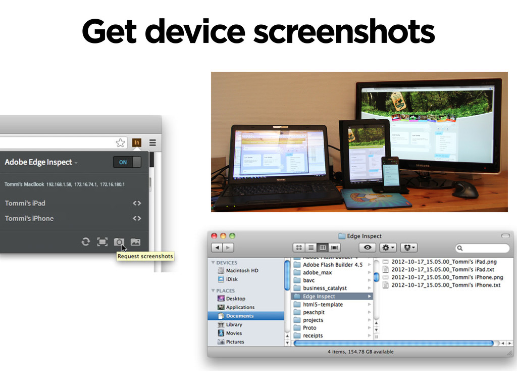 Get device screenshots