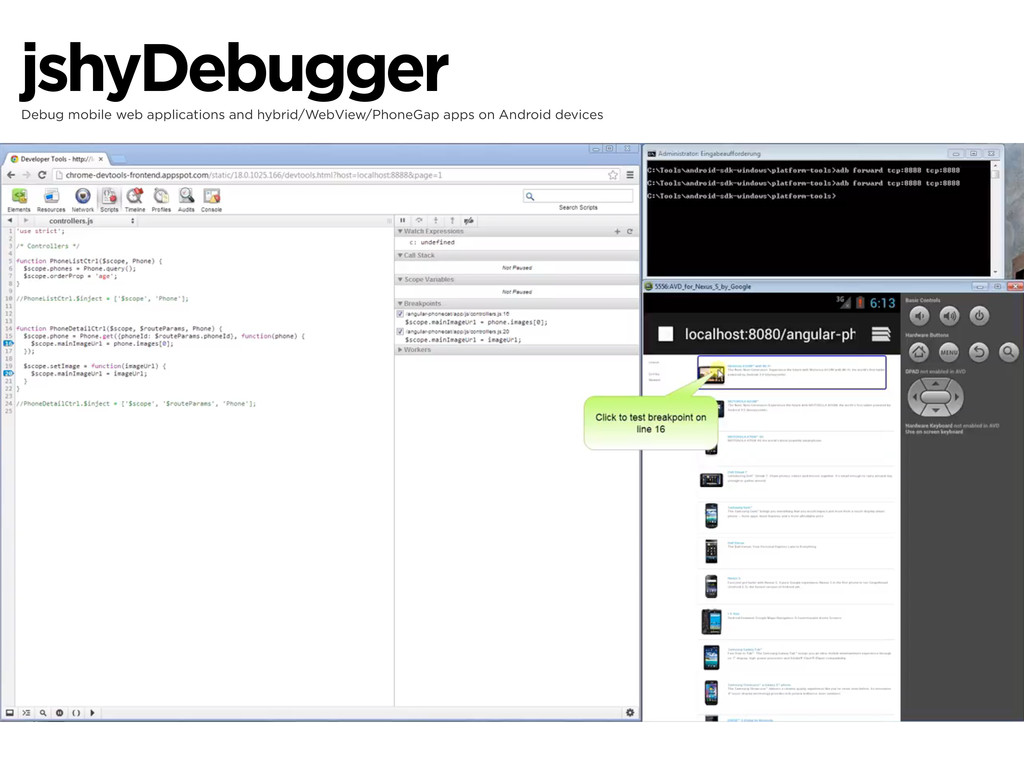 jshyDebugger Debug mobile web applications and ...
