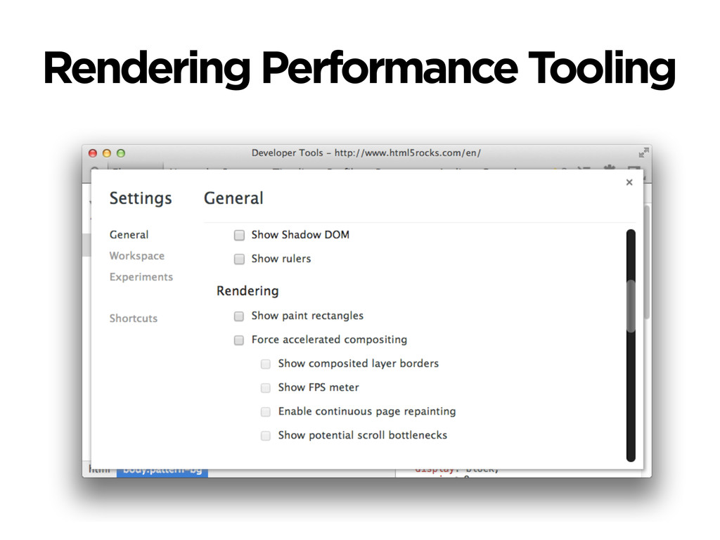 Rendering Performance Tooling