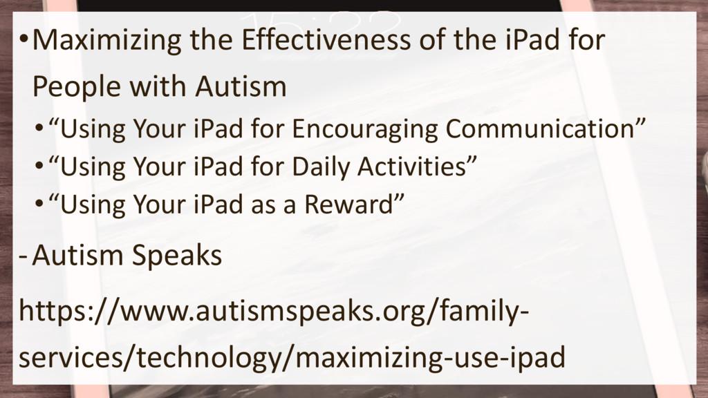 •Maximizing the Effectiveness of the iPad for P...