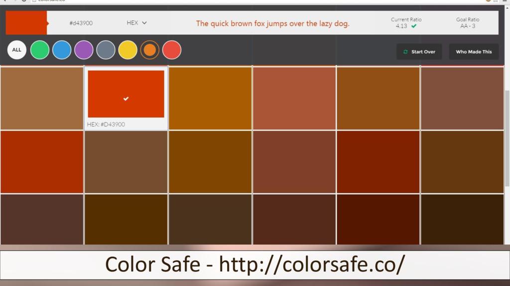 Color Safe - http://colorsafe.co/
