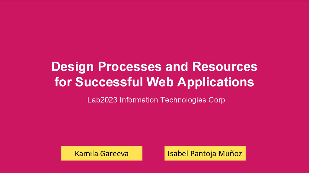Design Processes and Resources for Successful W...