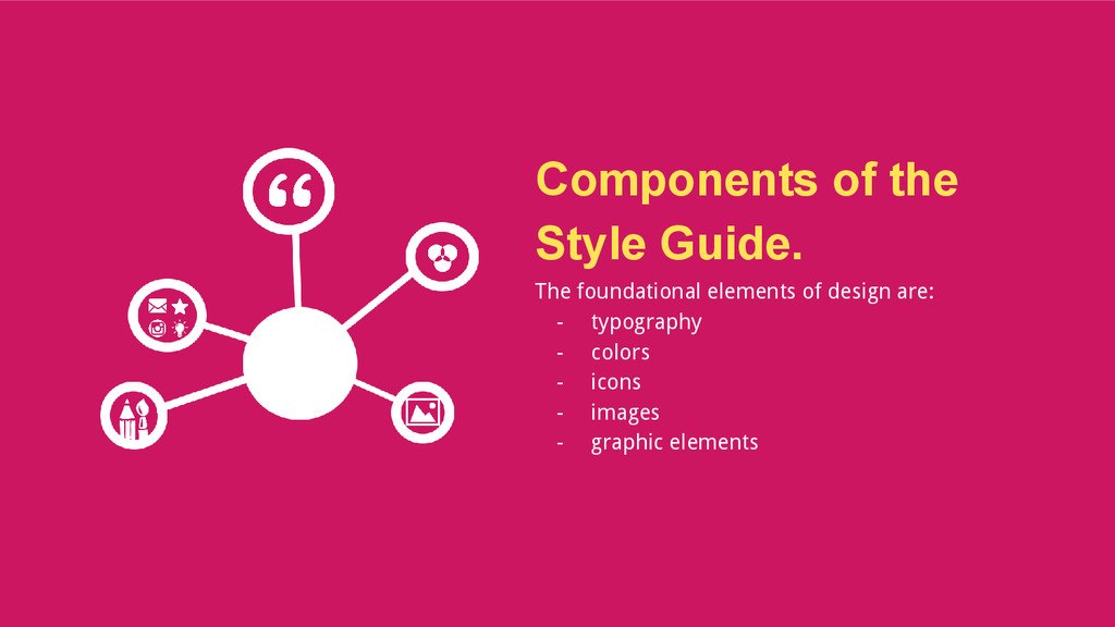 Components of the Style Guide. The foundational...