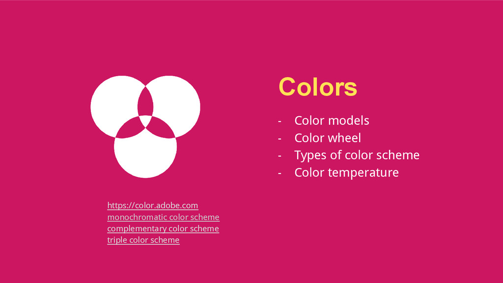 Colors - Color models - Color wheel - Types of ...