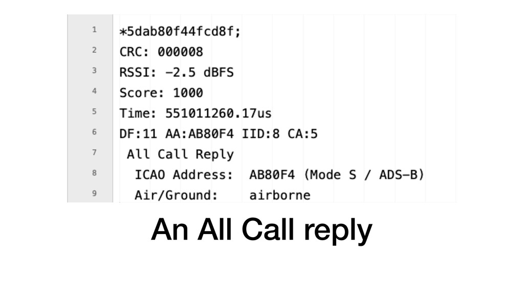An All Call reply