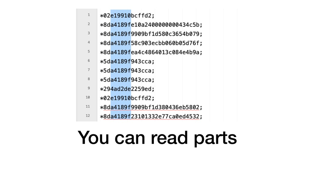 You can read parts