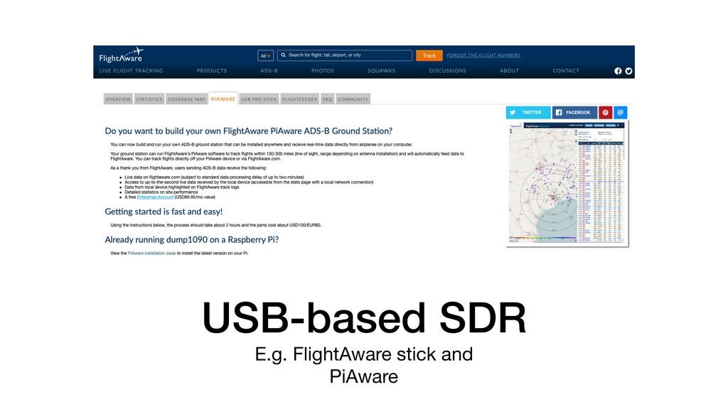 USB-based SDR E.g. FlightAware stick and  PiAwa...