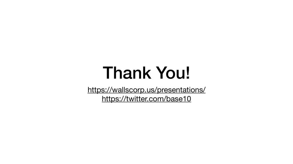 Thank You! https://wallscorp.us/presentations/ ...