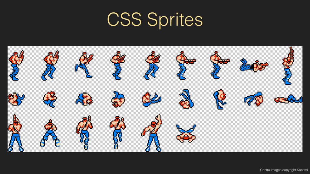 CSS Sprites Contra images copyright Konami