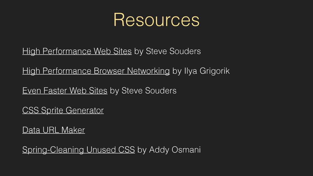 Resources High Performance Web Sites by Steve S...