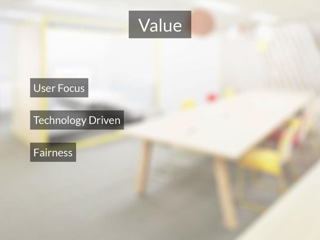 Value User Focus Technology Driven Fairness