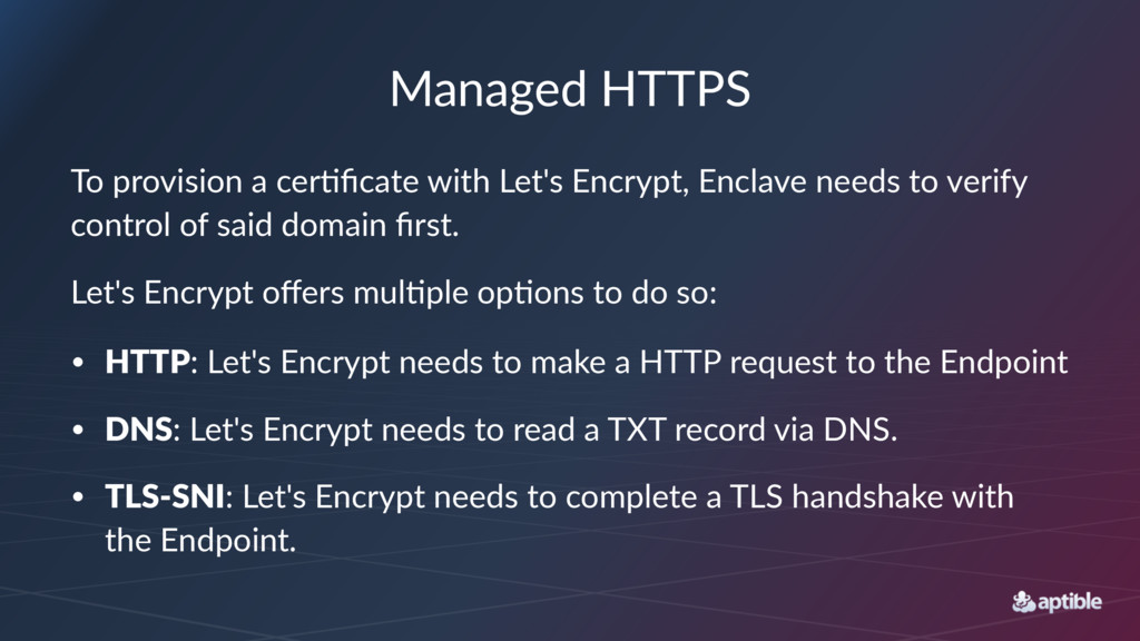 Managed'HTTPS To#provision#a#cer-ficate#with#Let...