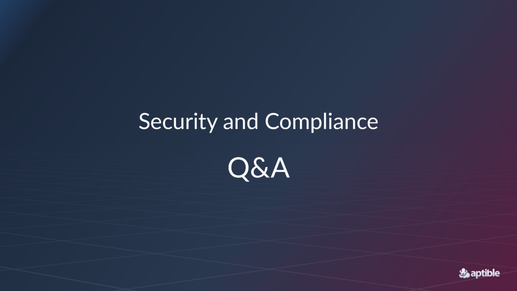 Security)and)Compliance Q&A
