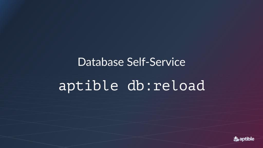 Database'Self+Service aptible db:reload