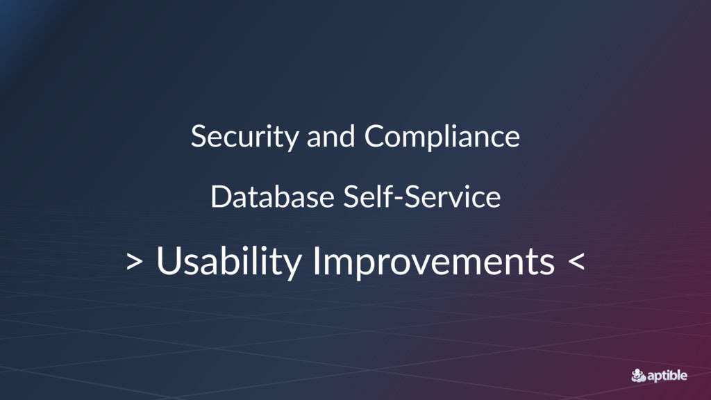 Security)and)Compliance Database'Self+Service >...