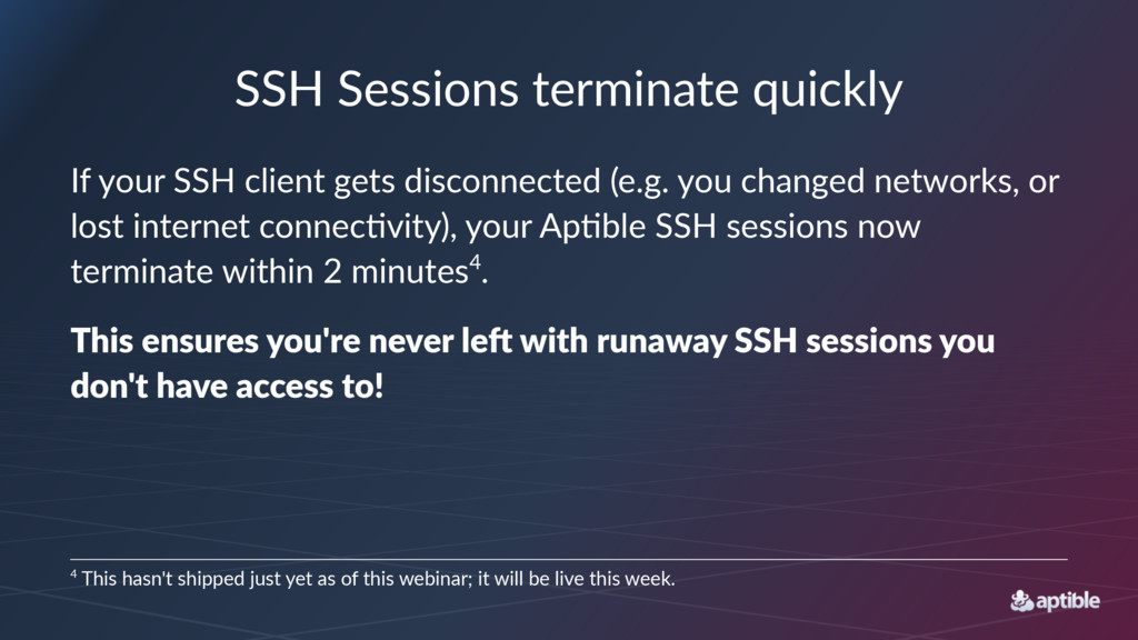 SSH#Sessions#terminate#quickly If#your#SSH#clie...