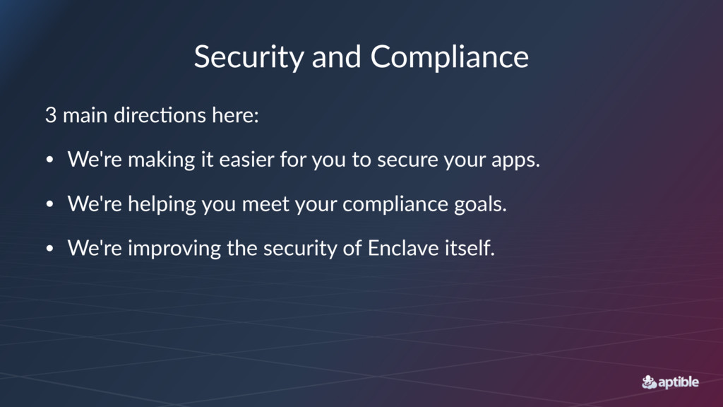 """Security)and)Compliance 3""""main""""direc+ons""""here: ..."""