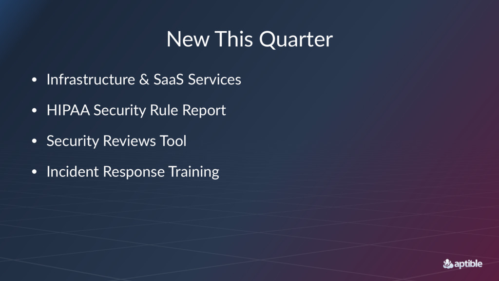New$This$Quarter • Infrastructure,&,SaaS,Servic...