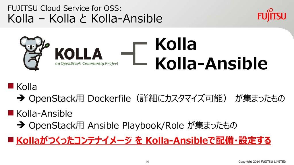 FUJITSU Cloud Service for OSS: Kolla – Kolla と ...