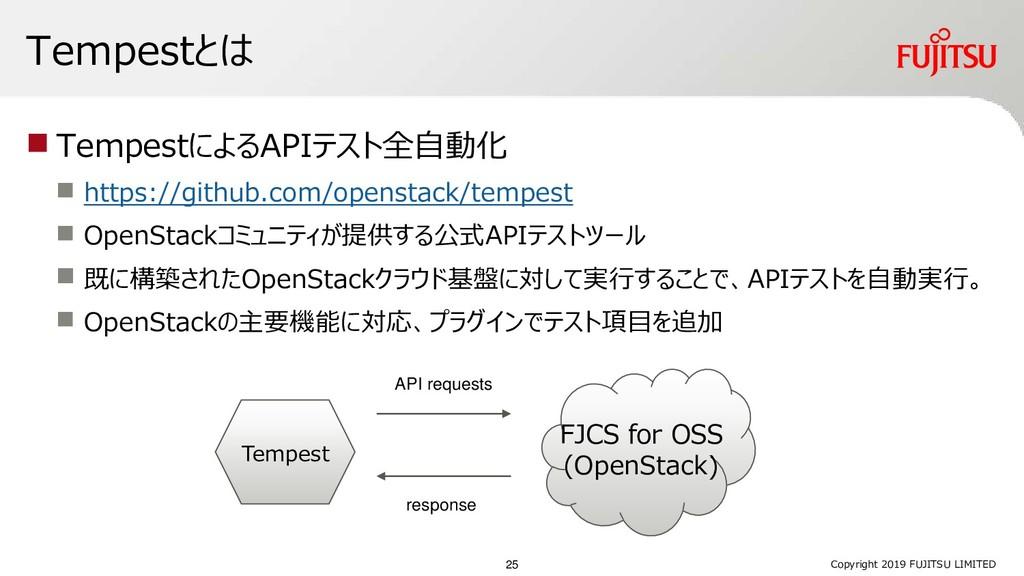 Tempestとは ◼ TempestによるAPIテスト全自動化 ◼ https://gith...