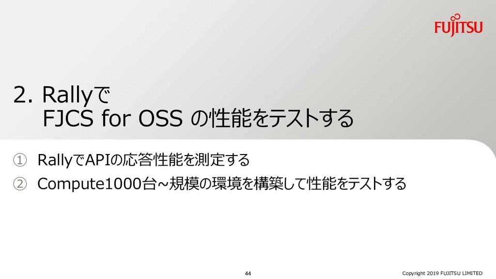 2. Rallyで FJCS for OSS の性能をテストする ① RallyでAPIの応答...