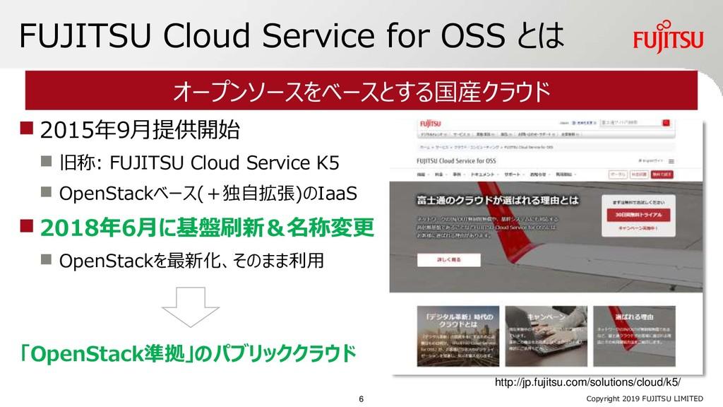 FUJITSU Cloud Service for OSS とは ◼ 2015年9月提供開始 ...