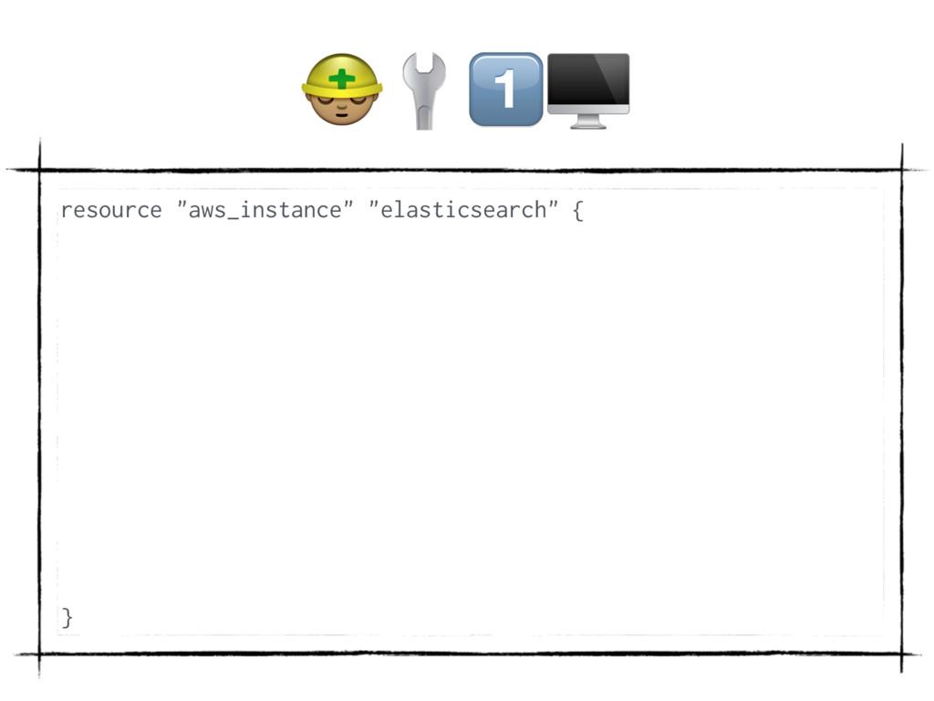 "(/ resource ""aws_instance"" ""elasticsearch"" { }"