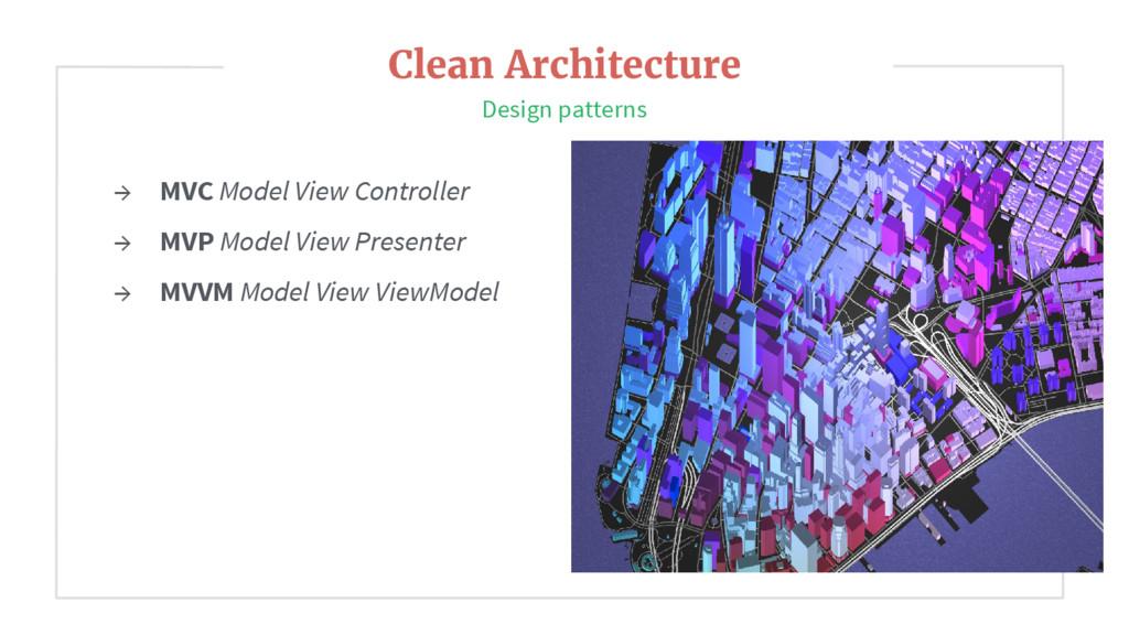 → MVC Model View Controller → MVP Model View Pr...