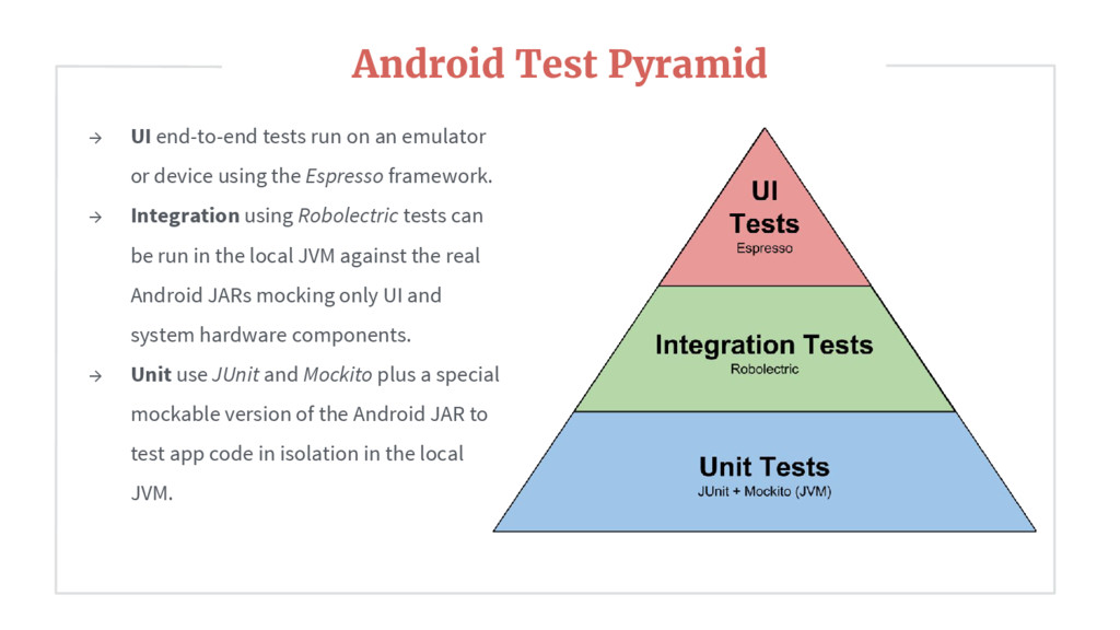 → UI end-to-end tests run on an emulator or dev...