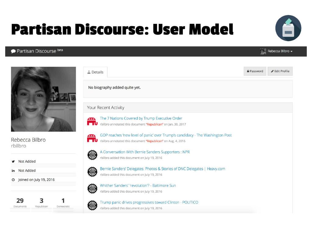 Partisan Discourse: User Model