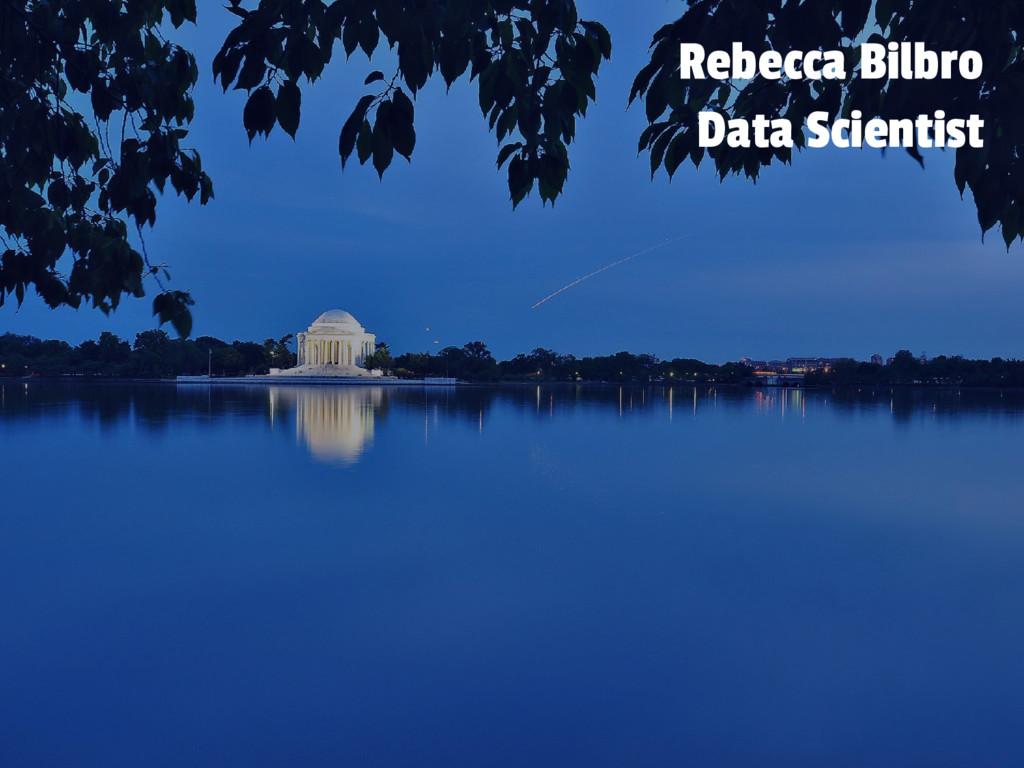Rebecca Bilbro Data Scientist