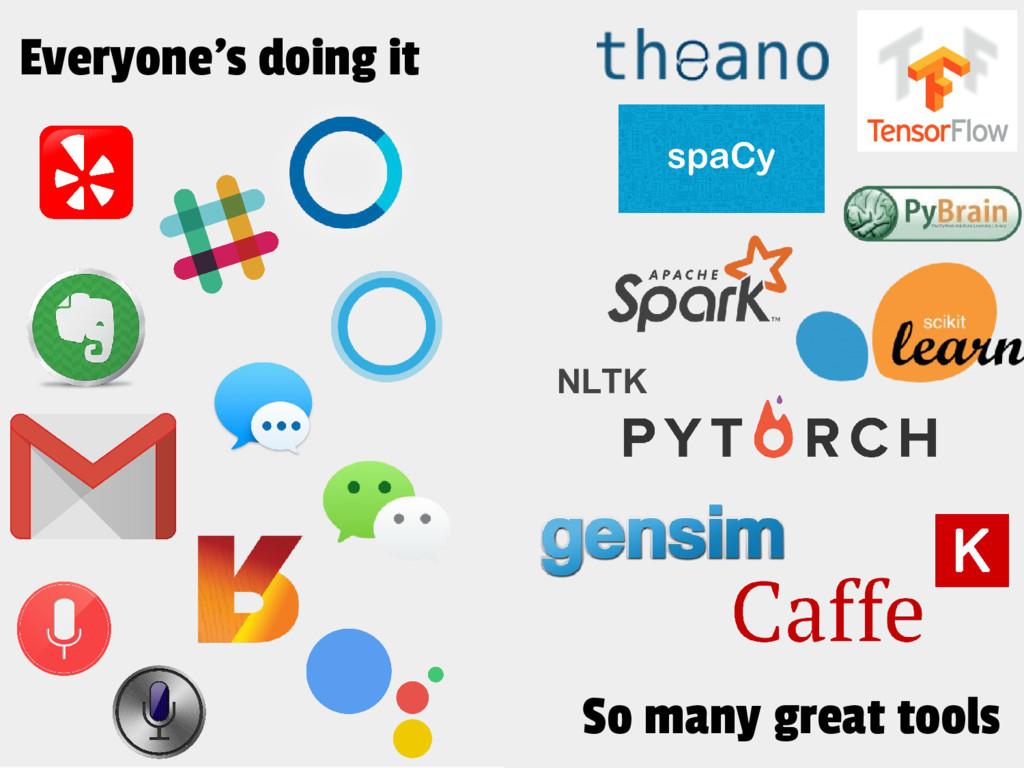Everyone's doing it NLTK So many great tools
