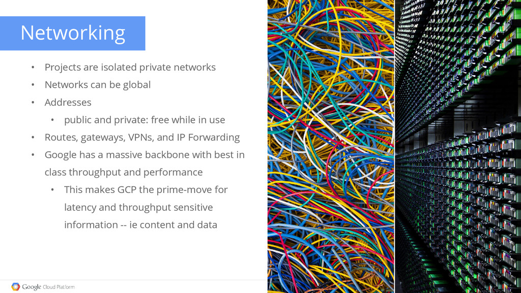 Networking • Projects are isolated private netw...