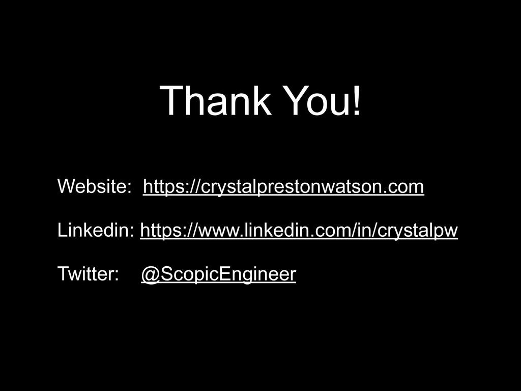 Thank You! Website: https://crystalprestonwatso...