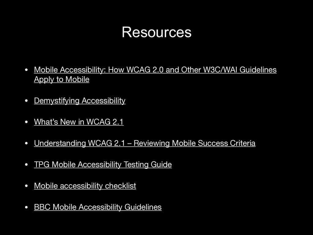 Resources • Mobile Accessibility: How WCAG 2.0 ...