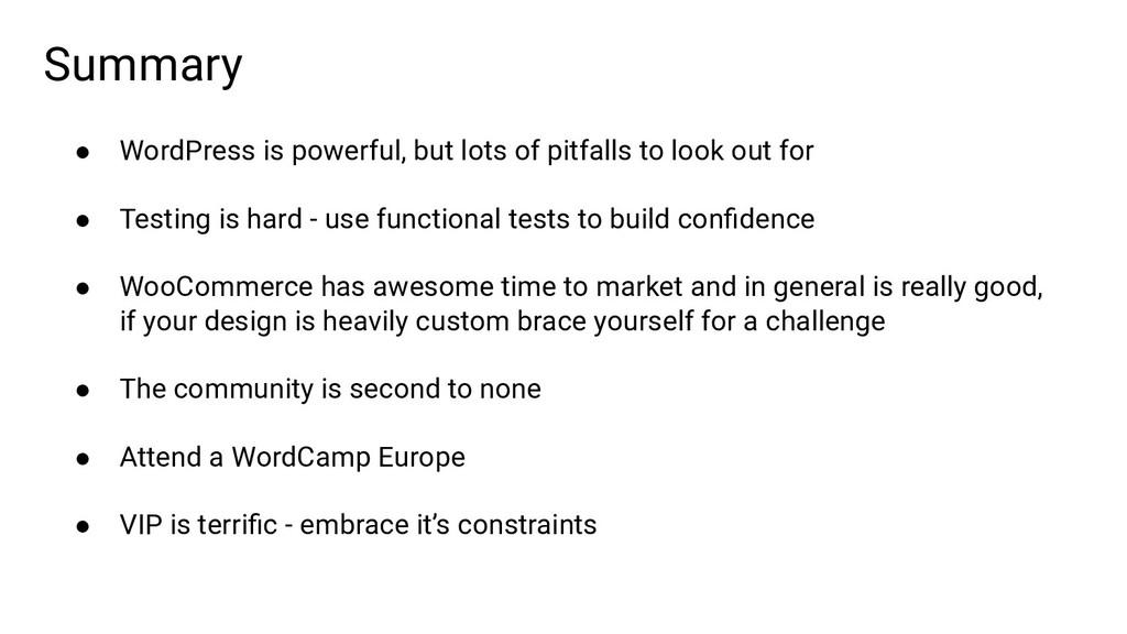 ● WordPress is powerful, but lots of pitfalls t...