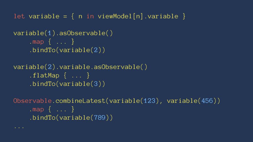 let variable = { n in viewModel[n].variable } v...