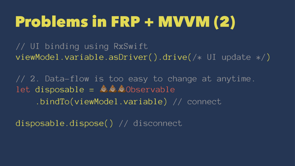 Problems in FRP + MVVM (2) // UI binding using ...