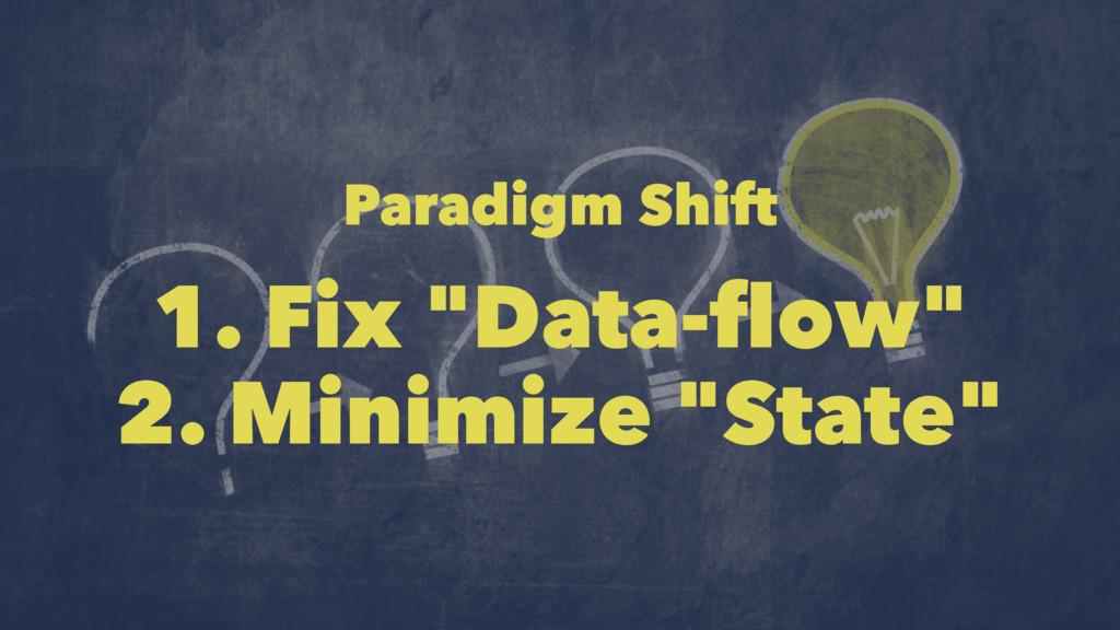 """Paradigm Shift 1. Fix """"Data-flow"""" 2. Minimize """"S..."""