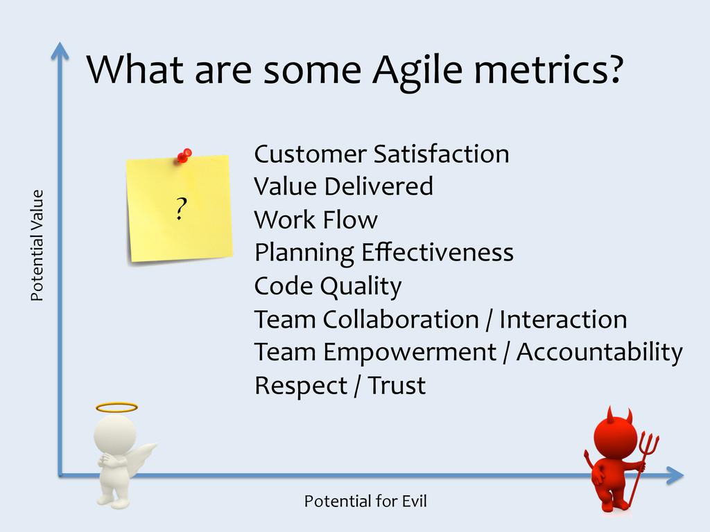 What are some Agile metrics?  Po...