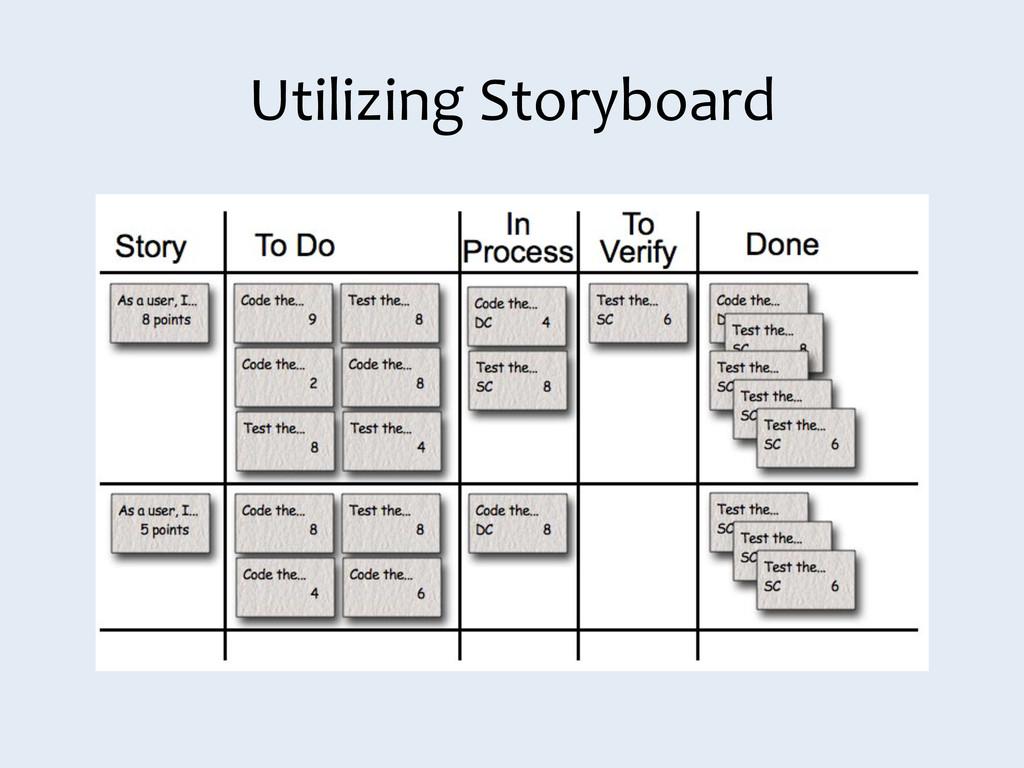 Utilizing Storyboard