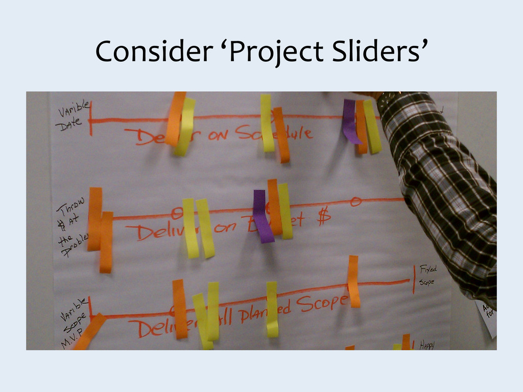 Consider 'Project Sliders'