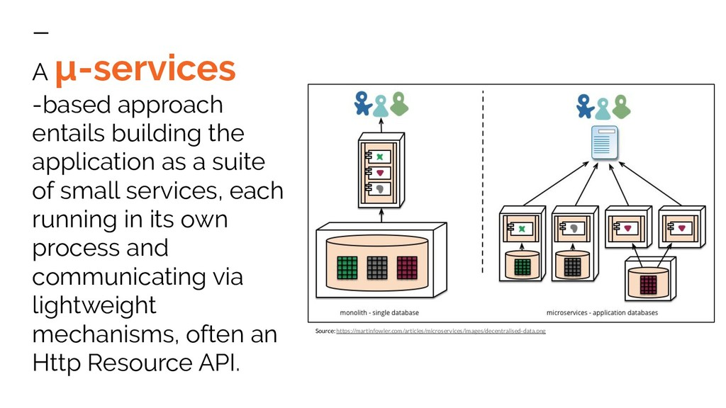 A µ-services -based approach entails building t...