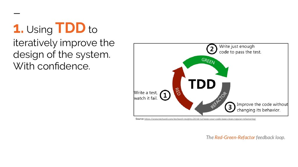 1. Using TDD to iteratively improve the design ...