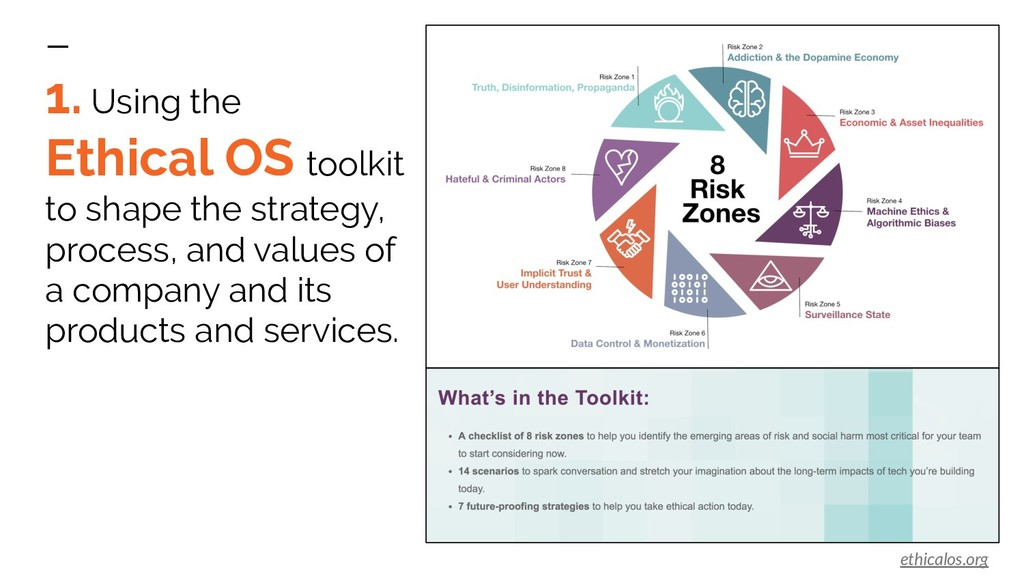 1. Using the Ethical OS toolkit to shape the st...