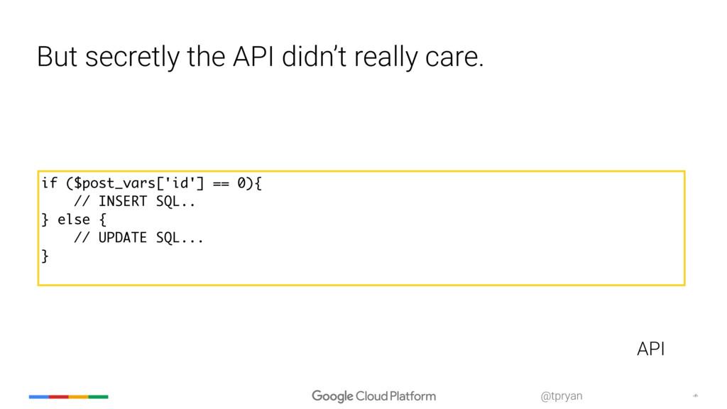 ‹#› @tpryan But secretly the API didn't really ...