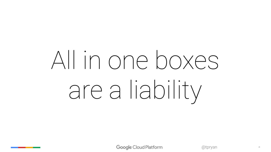‹#› @tpryan All in one boxes are a liability