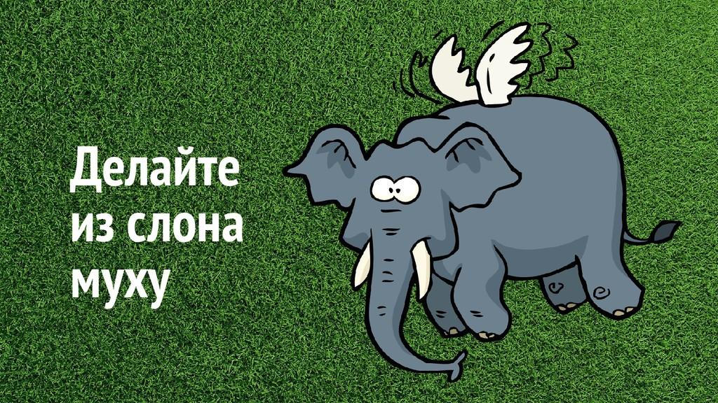 Делайте из слона муху