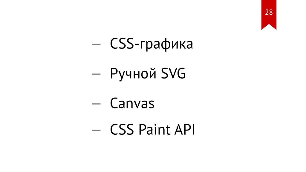 CSS-графика Ручной SVG Canvas CSS Paint API — —...